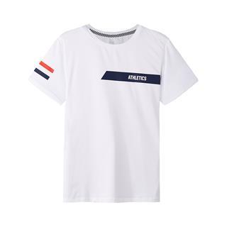 特步 专柜款 男子秋季时尚活力舒适百搭针织衫T恤短袖982329012340