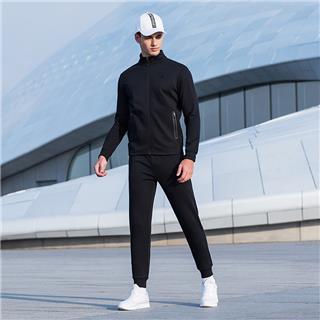 特步 男子针织套装  基础运动舒适上衣长裤两件套882329969097