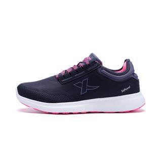 特步 专柜款 女子跑鞋 秋季革面舒适耐磨跑步运动鞋983418116550