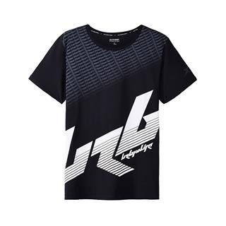 特步 专柜款 男子短袖针织衫 都市时尚舒适潮T982329012368