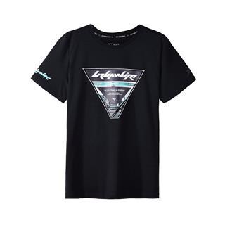 特步 专柜款 男子短袖针织衫 都市潮流时尚T恤982329012366