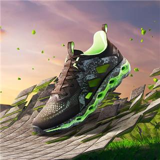 特步 专柜款 男子夏季减震旋跑鞋 18年新品科技男鞋982219116965