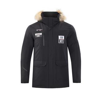 特步 男子羽绒服 秋冬新款时尚保暖简洁休闲运动羽绒外套882429199231
