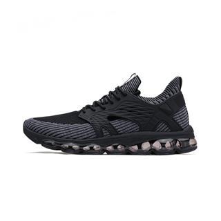 特步 男鞋跑鞋2018夏季新款袜套全掌气垫跑步鞋子编织休闲运动鞋男 982319119061