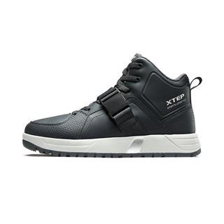 特步 男子棉鞋 19冬季新品简约时尚保暖都市健身运动旅游中高帮耐磨鞋882419379563