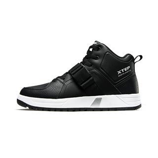 特步 男子棉鞋 18冬季新品简约时尚保暖都市健身运动旅游中高帮耐磨鞋882419379563