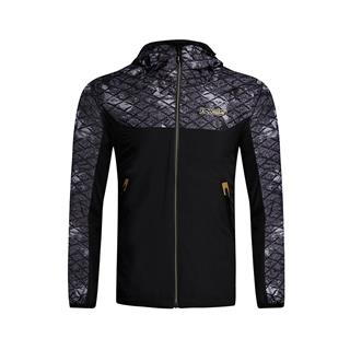 特步 专柜款 男子双层风衣 冬季保暖连帽拉链风衣982129150344