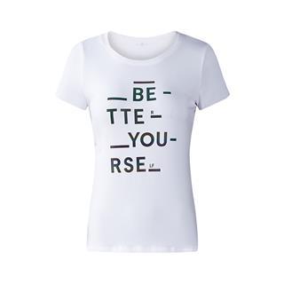 特步 专柜款 女子短袖针织衫 简洁大方舒适女子短上衣982328012375