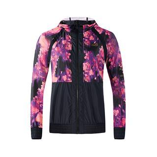 特步 专柜款 女子单夹克 18秋冬新品健身时尚户外连帽拉链外套982328110103