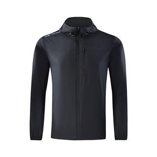特步 专柜款 男子秋冬新款舒适百搭纯色保暖运动综训风衣982329160183