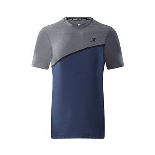 特步 专柜款 男子短袖针织衫 18秋季新品简约健身运动舒适轻便男上衣982329012386