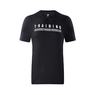 特步 专柜款 男子短袖针织衫 新品时尚简约舒适运动休闲健身综训男上衣982329012395