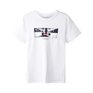 特步 专柜款 男子短袖针织衫 时尚潮流舒适街头百搭流行男上衣982329012419