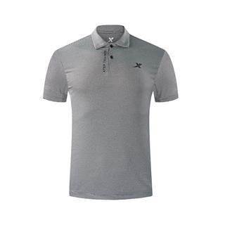 特步 专柜款 男子短袖POLO衫 18秋季新款时尚纯色潮流简约翻领男上衣982329021072