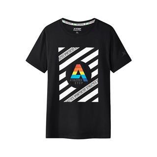 【明星同款】特步  专柜款 男子短袖针织衫 潮流T恤 982229012169