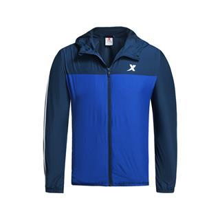 【明星同款】特步 专柜款 男子秋季风衣 17新品条纹综训运动双层风衣外套983329150338