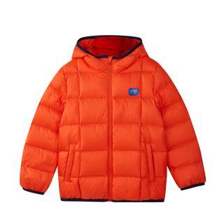 特步 男童羽绒服 冬中小童保暖连帽羽绒夹克儿童外套682425199001