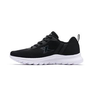 特步 女子跑鞋 黑色厚底网面透气轻便旅游韩版运动鞋982118119981