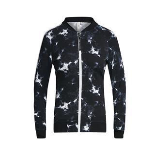 特步 专柜款 女子针织上衣 春季新款时尚休闲潮流棒球领拉链针织夹克982128061524