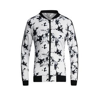 特步 专柜款 女子针织上衣 秋季新款时尚休闲潮流棒球领拉链针织夹克982128061524