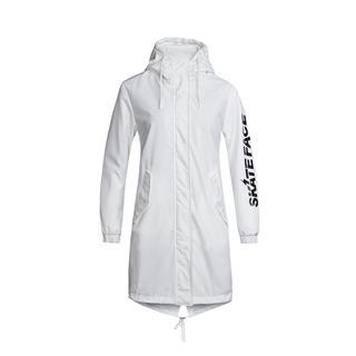 特步 专柜款 女子双层风衣 休闲舒适时尚运动外套982128150357