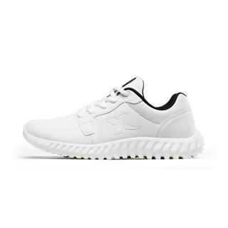 特步 男子跑鞋 19春季新款柔立方减震革面运动鞋881119119263