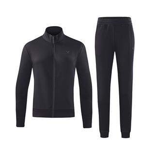 特步 女针织套装 2018秋冬新款2件套针织上衣休闲裤运动套装882328969302