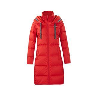 特步 女子羽绒服 18冬季新款运动健身轻便长款连帽羽绒服882428199014