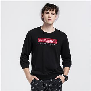 特步 男子卫衣 秋季新款都市休闲时尚穿搭套头简约潮流男子上衣882329059150