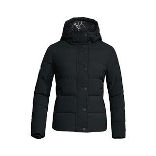 特步 专柜款 女子羽绒服 冬季连帽保暖休闲时尚纯色百搭潮流厚外套983428190696