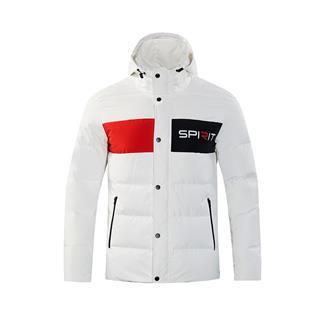特步 男子羽绒服 2018冬新款保暖运动连帽羽绒外套882429199309