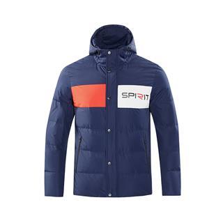 特步 男子羽绒服 冬新款保暖运动连帽羽绒外套882429199309