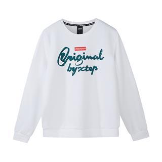 特步 男子卫衣 2019春季新款轻便舒适运动校园圆领套头衫881129059340