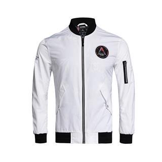 特步 专柜款 男子双层夹克 活力立领舒适时尚男子运动外套982129120780