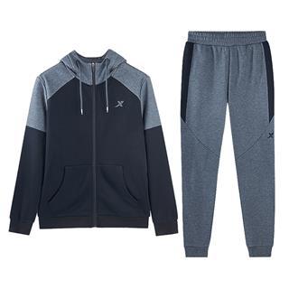 特步 男子针织套装 18冬季新款舒适百搭运动休闲运动套装882429969103