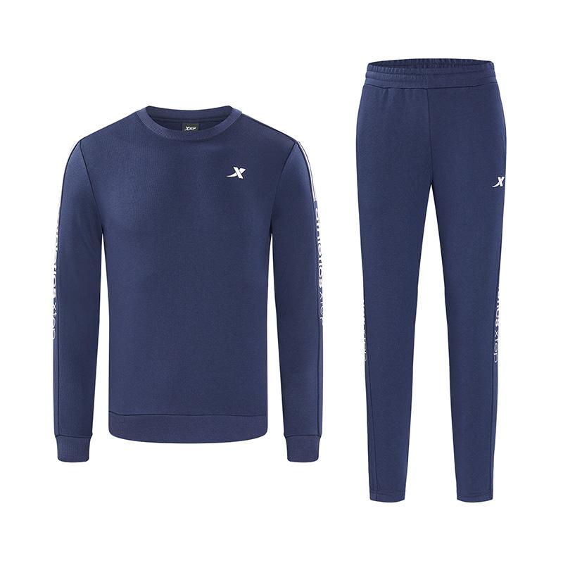 特步 男子卫衣套装 18秋季新款时尚舒适休闲运动两件套882329979301