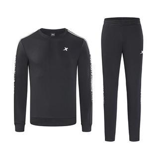 特步 男子卫衣套装 时尚舒适休闲运动两件套882329979301