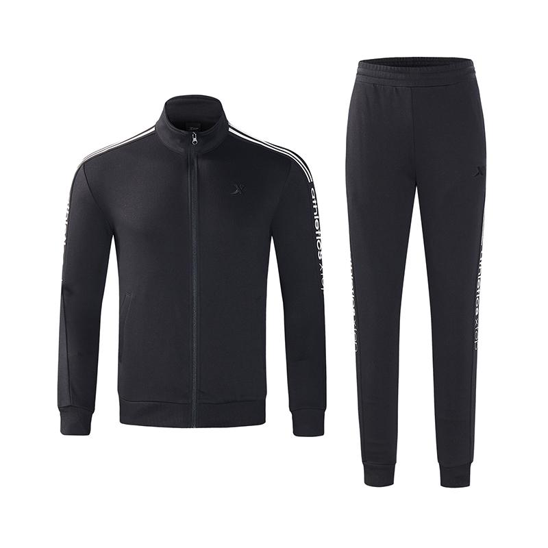 特步 男子针织套装 18秋冬新款都市休闲运动时尚运动套装882329969300