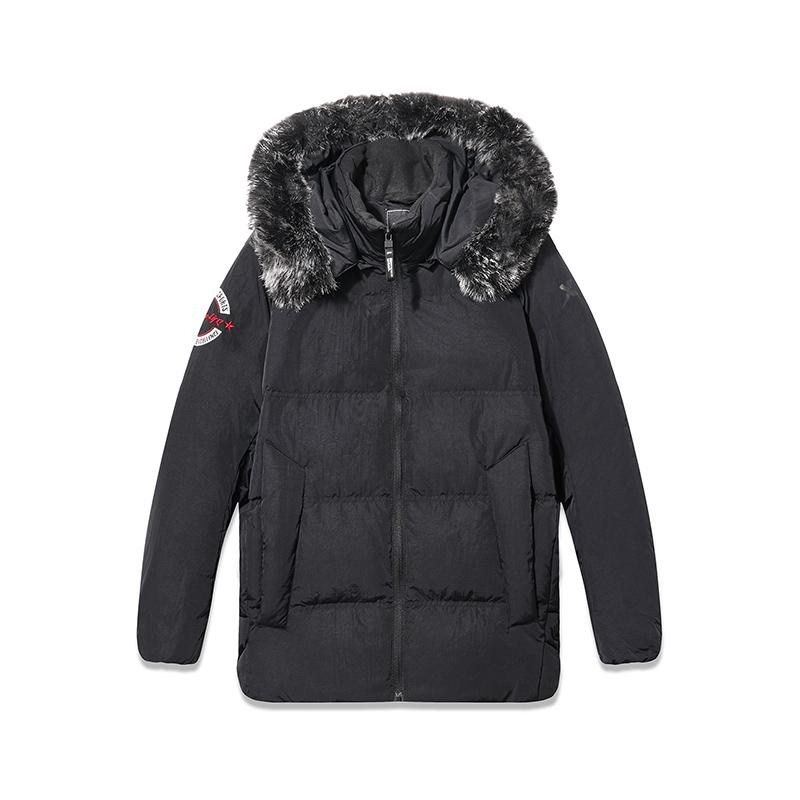 特步 专柜款 羽绒服女2018冬季新款保暖外套加厚连帽外套女装上衣982428190849