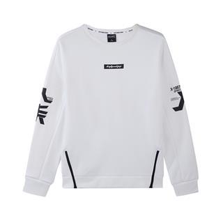 特步 专柜款 男装运动装卫衣男2018冬季新款套头短款上衣982429051780