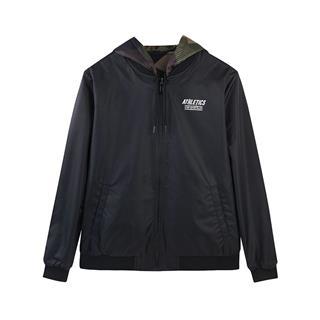 【】特步 专柜款 男子运动外套双层两面穿夹克衫2018冬新款休闲982429120820