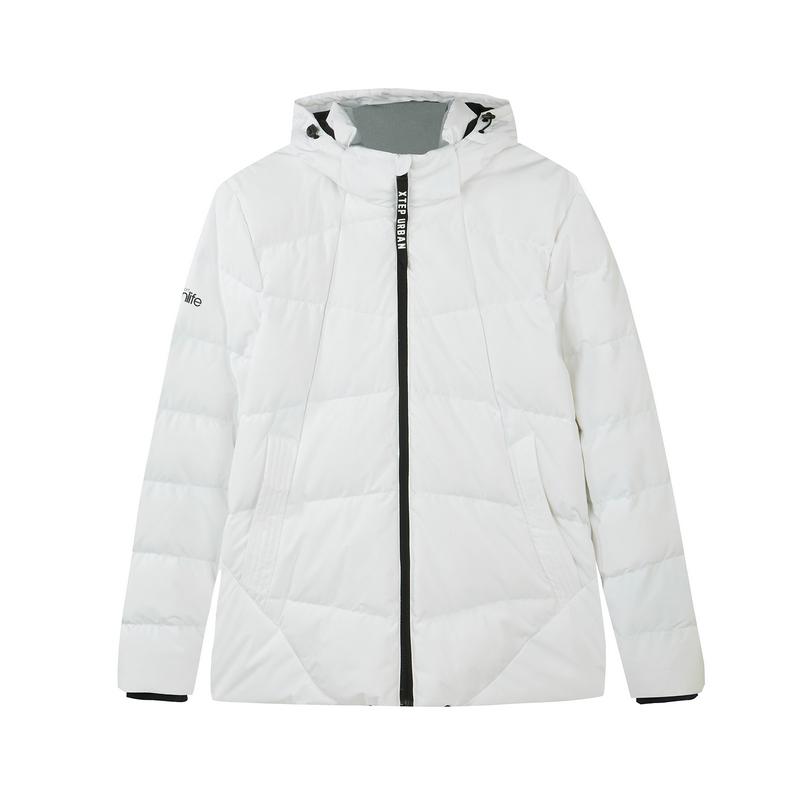 特步 专柜款 男子羽绒服 2018冬季新品时尚舒适保暖连帽外套982429190826