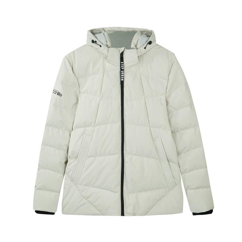 特步 专柜款 男子羽绒服 冬季新品时尚舒适保暖连帽外套982429190826