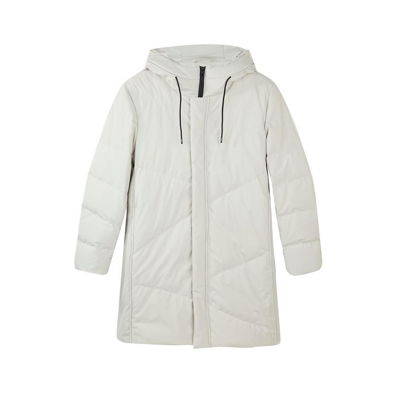 特步 专柜款 羽绒服男2018冬季新品舒适保暖外套中长款外套连帽男装982429190912