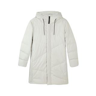 特步 专柜款 羽绒服男2018冬季新品舒适保暖外套中长款外套林更新连帽男装982429190912