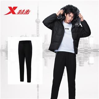 特步 专柜款 男裤针织长裤冬季新品保暖运动裤时尚男子裤装982429631511