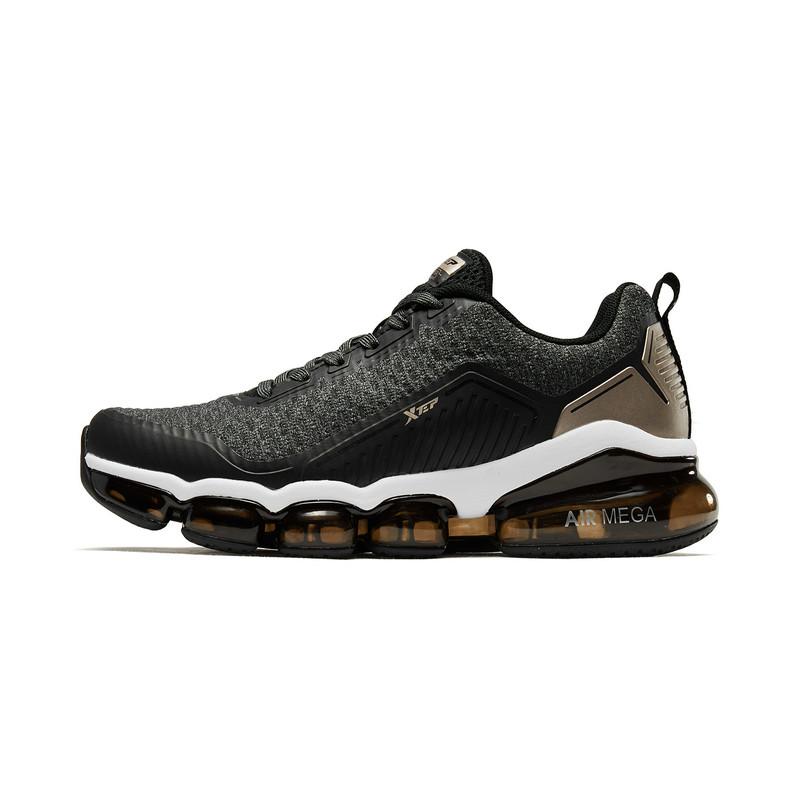 特步 女子跑鞋 19春季新款时尚休闲舒适系带全掌气垫女运动鞋881118119091