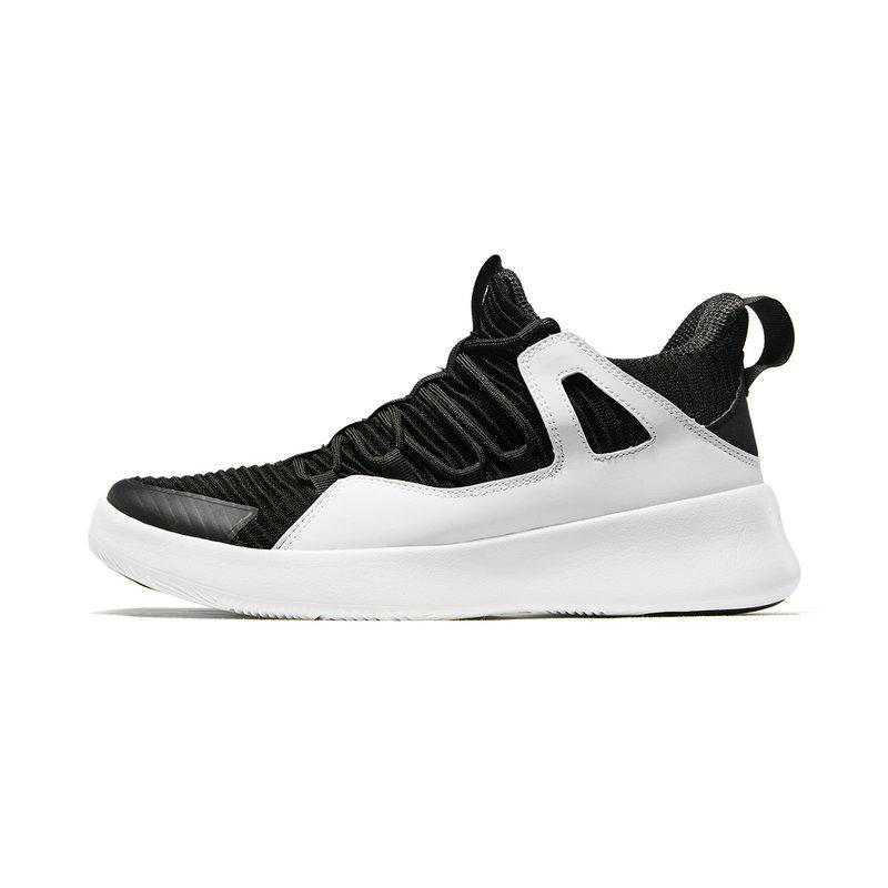 特步 男子篮球鞋 19春季新款时尚革面系带高帮耐磨减震运动鞋881119129219