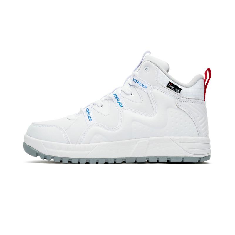 特步 专柜款 女子棉鞋 冬季新款高帮时尚保暖休闲运动鞋982418371073