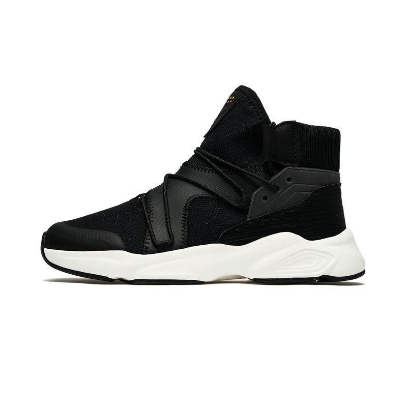 特步 专柜款 女子都市鞋 冬季新款时尚舒适高帮运动休闲鞋982418392876